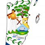 thumbnail of Belize flag map