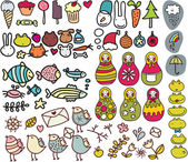 Set of doodle images in vector vol 3