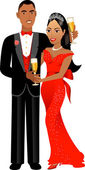 Vector Illustration A beautiful Valentine Couple 1