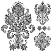 Set of vector damask ornaments Easy to edit Perfect for invitations or announcements