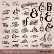 thumbnail of Calligraphic vintage design elements. Vector set