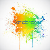 Illustration of color paint splashes on white background