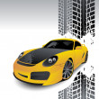 thumbnail of Yellow car of sports type