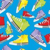 Bezešvé pattern izolované boty