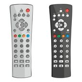 Fully editable vector illustration remote controls