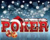 Christmas Poker greeting background vector illustration