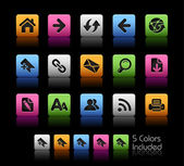 +++ The eps file includes 5 color versions for each icon in different layers +++