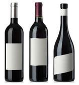 červené víno prázdné láhve s popisky