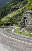 Transfagarasan - road on a high mountain