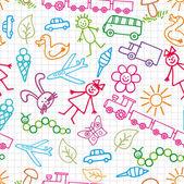 Dětské kresby. Doodle pozadí