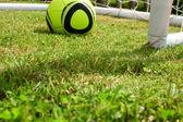 Fotbalový míč Jabulani a cíl