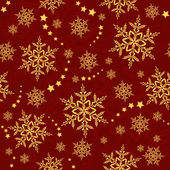 Red golden snowflakes winter texture that will tile seamlessly 3 global colors artwork grouped and layered