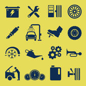 A set of car repair and service icons