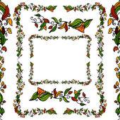 An image of a flower vine border set
