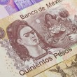 Постер, плакат: Frida Kahlo Mexican Five Hundred Pesos