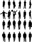 Business collection silhouettes - vector