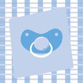 Ciuccio ragazzo carino bambino blu
