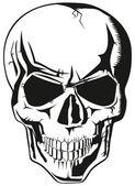Vector evil human black skull for halloween