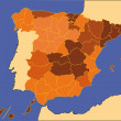 thumbnail of Detailed vector map of spain