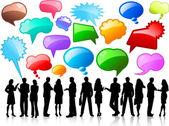 Az üzleti témájú beszélgetés