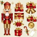 thumbnail of Vector set: traditional christmas elements