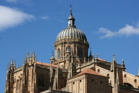 Постер, плакат: New Cathedral Salamanca, холст на подрамнике
