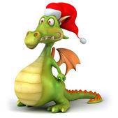 Vánoční dragon 3d ilustrace
