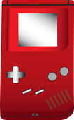 An illustration of a handheld game