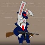 Постер, плакат: Bunny gangster
