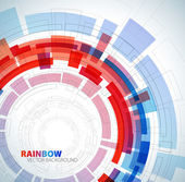 Abstract background with red and blue colors and place for your text