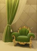 Starožitné křeslo v luxusním interiéru