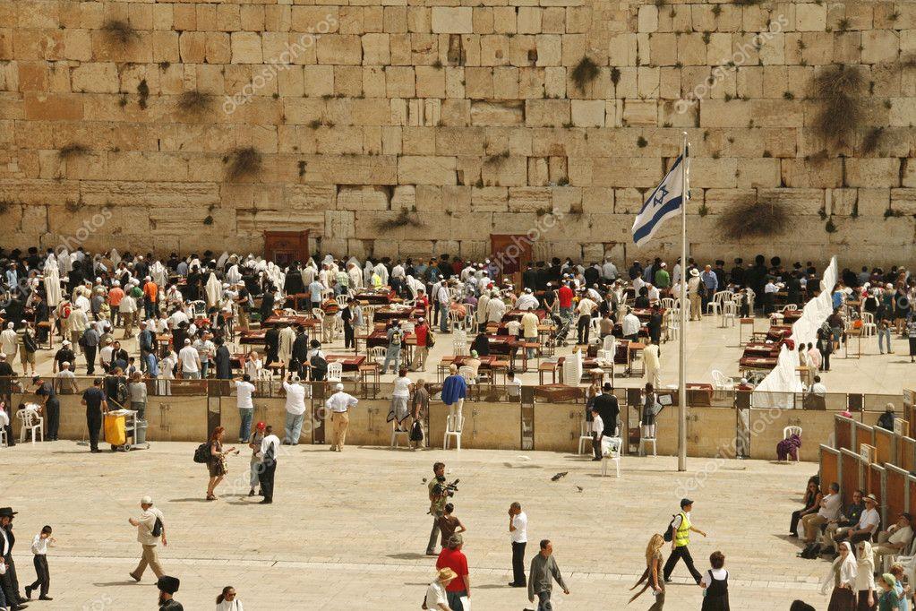 Klagemauer In Den Ferien Pessach In Jerusalem Israel Stockfoto