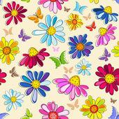 Photo Effortless pink floral pattern