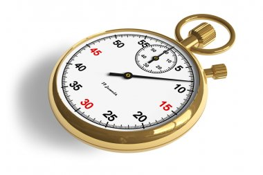 Golden stopwatch