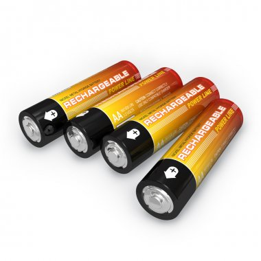 Four AA rechargeable batteries