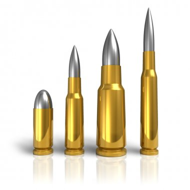 Set of different bullets stock vector