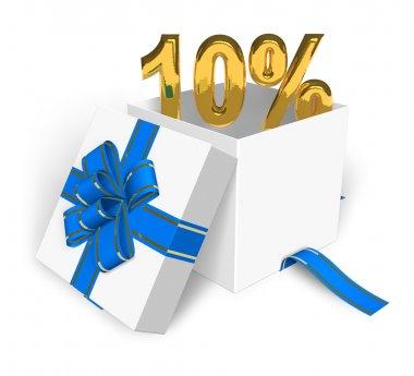 10% discount concept