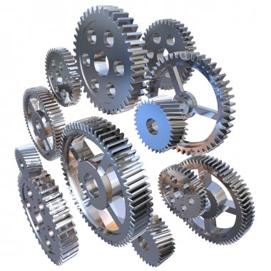 Group of steel gears