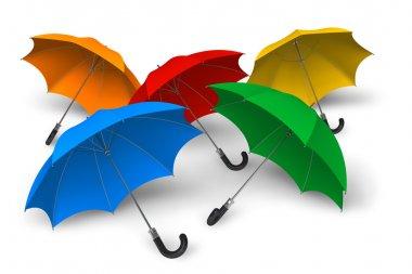 Color umbrellas