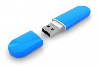 USB flash drive with cap