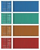 Fotografie Satz von Fracht-Container-Vorlagen