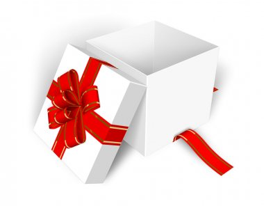 Empty opened gift box
