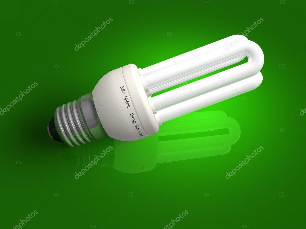 Lampadina basso consumo e w luce verde lampadine w v e