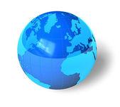 modrý lesklý zemi světa