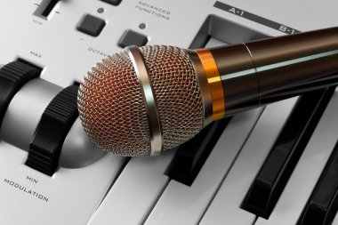 Microphone on synthesizer