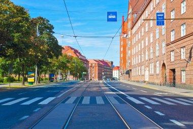 City street in Helsinki, Finland