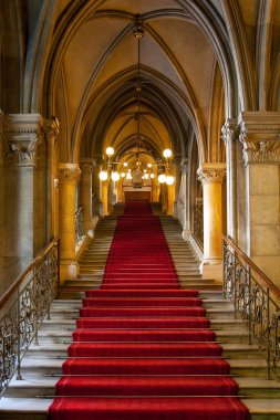 Gothic castle interior