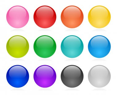 Web button set stock vector