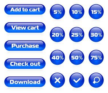 Online shop button set
