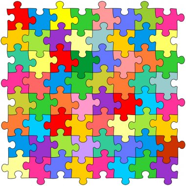 Seamless color puzzles background